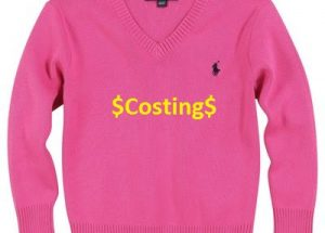 How to calculate sweater costing in garments industry?